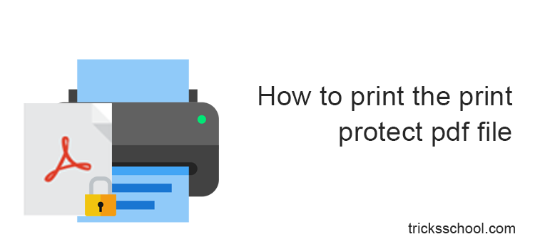 How to print the print protect pdf file