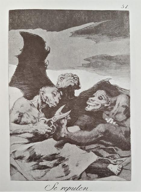 Goya's etching: Se repulen