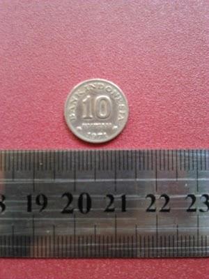 10 rupiah tahun 1971