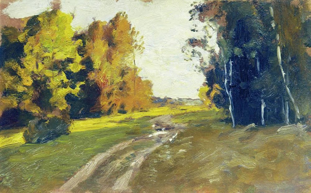 Исаак Ильич Левитан - Вечер. Дорога в лесу. 1894