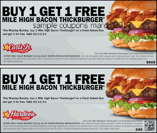 Hardees coupons march
