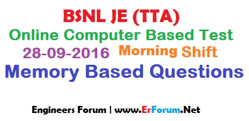 bsnl-je-28-09-2016-morning