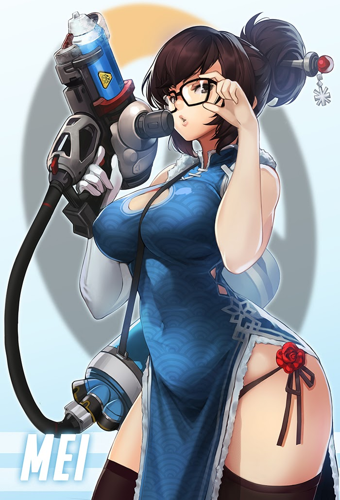 mei with gun