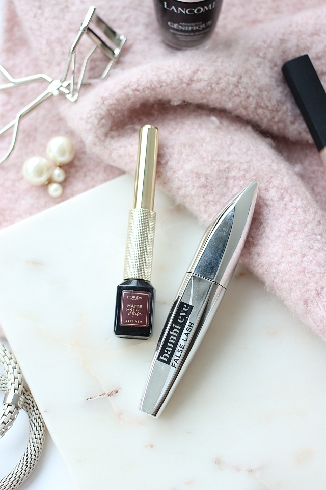 L'Oréal Bambi Eyes mascara & Matte Signature eyeliner