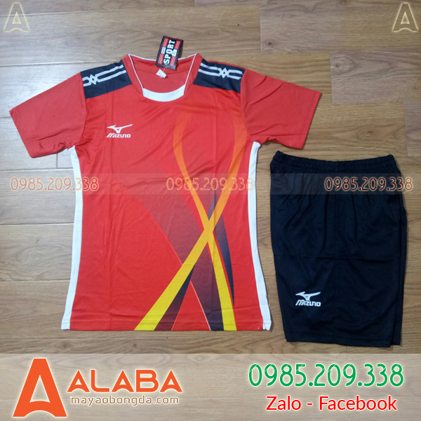 Áo Bóng Chuyền MIZUNO ALB - NU02 Màu Đỏ