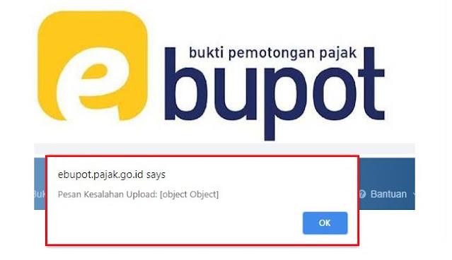 Impor e-Bupot Gagal Error Object Object