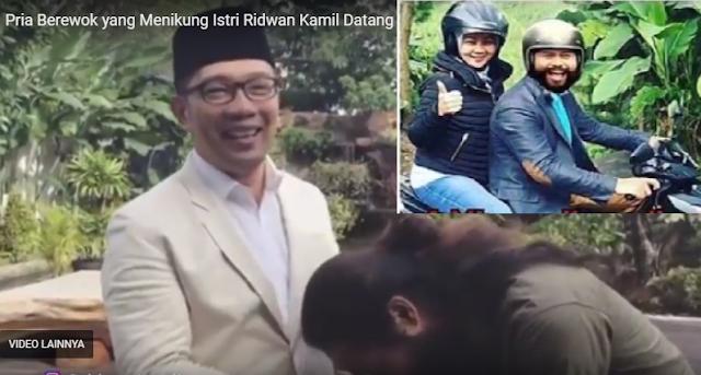Heboh, Pria Gagah Dan Berewok Yang Menikung Istri Ridwan Kamil Ini Datang Dan Minta Maaf