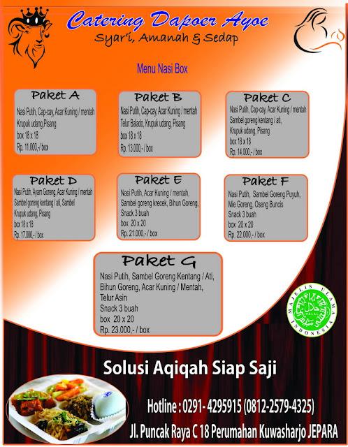 Paket Catering Aqiqah Jepara
