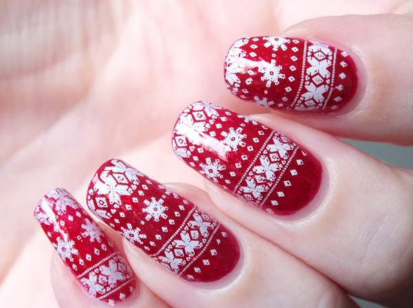 nail-art simple noel
