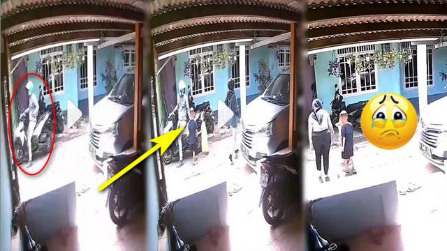 Video Detik-detik Anak Kecil Kena Jambret di Pinggir Jalan, Perhiasan Lenyap Dalam Sekejap! Hati-hati Bunda!