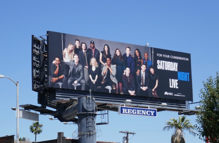 Saturday Night Live 2019 Emmy consideration billboard