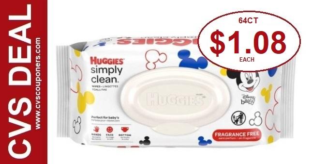 Huggies Baby Wipes CVS Deal $1.08 12-8-12-14