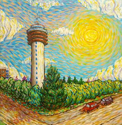 TV Tower Roosendaal Like Van Gogh by Erika Stanley