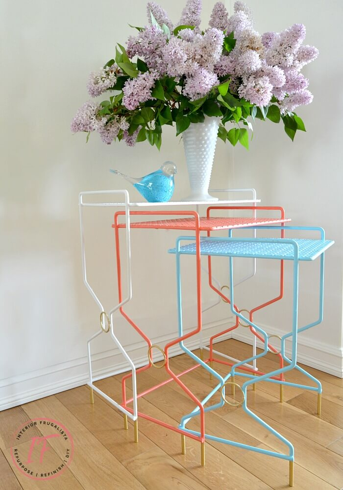 Retro Metal Nesting Tables