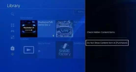 Cara menyembunyikan game di PS4-3