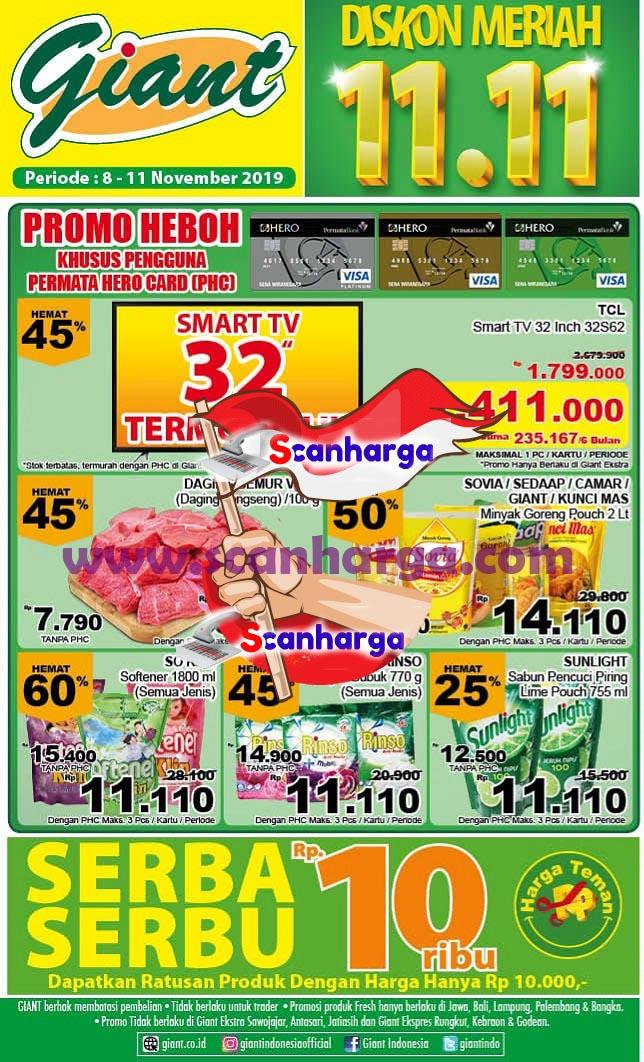 Promo Giant Heboh Khusus Pengguna Permata Hero Card PHC Diskon Meriah 11.11