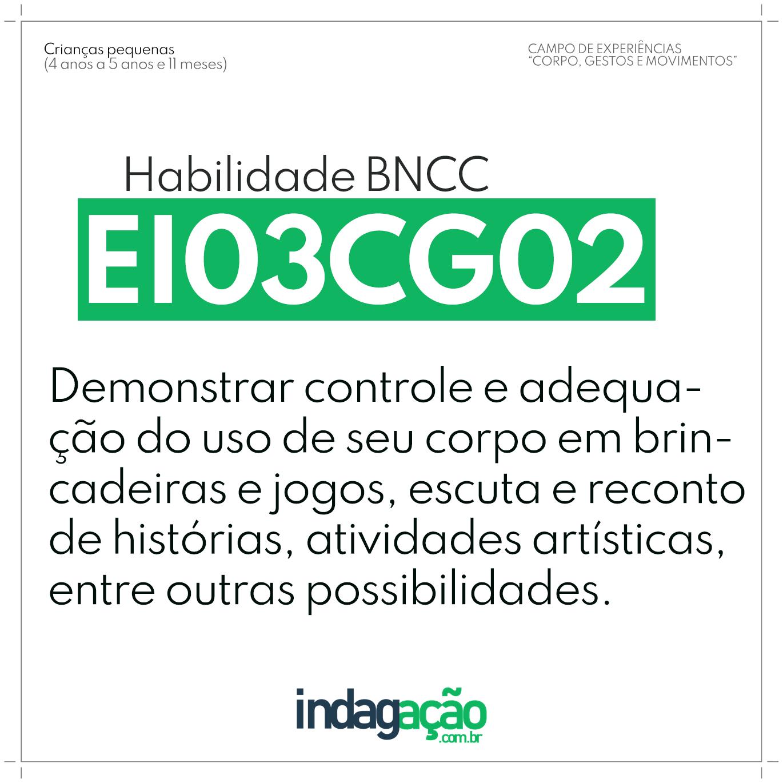 Habilidade EI03CG02 BNCC