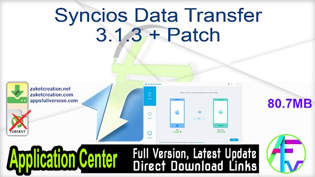 Syncios Data Transfer 3.1.3 + Patch
