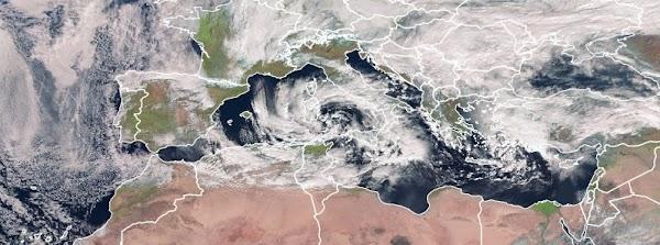 Se forma un poderoso Ciclon en el mar Mediterráneo, vientos fuertes, olas enormes, lluvias intensas, nieve y hielo se espera!