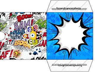 Etiqueta Funda CD´s para Imprimir Gratis de Minions Super Héroes.