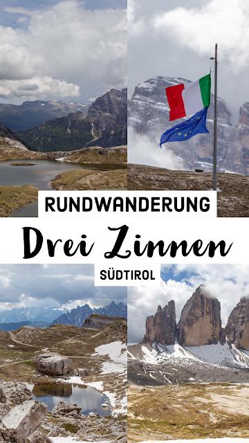 Rundtour Drei Zinnen - Dreizinnenhütte  Wanderung Sextner Dolomiten  Wandern Südtirol  Tourenbericht Tre Cime di Lavaredo  GPS-Track 30