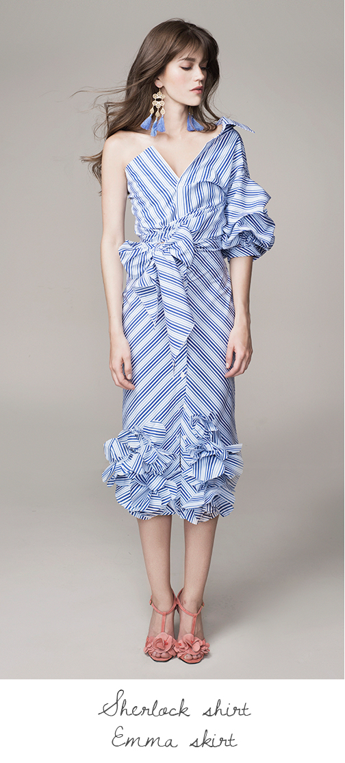 Stripes & Ruffles Looks for Utter Spring Romance at Johanna Ortiz