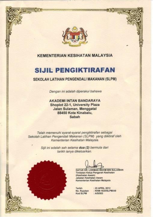 Senarai Sekolah Latihan Pengendali Makanan Di Selangor Kronis C