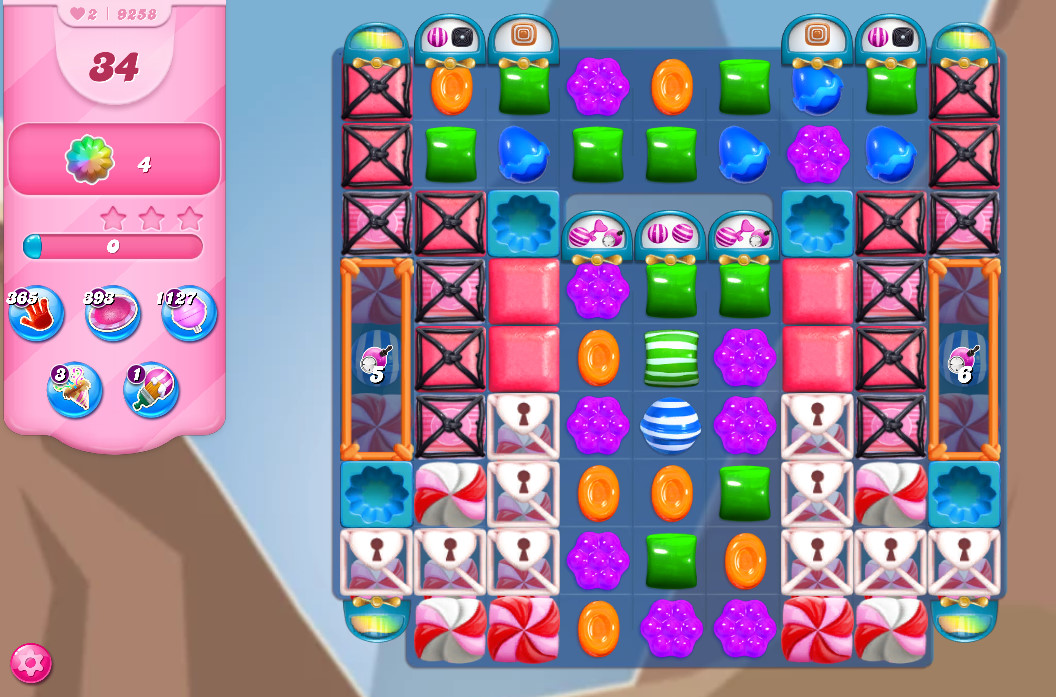 Candy Crush Saga level 9258