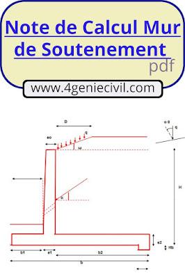 calcul d'un mur de soutènement en béton armé