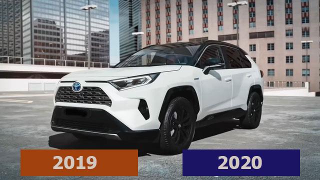 الفرق بين تويوتا راف 4 2019 و 2020