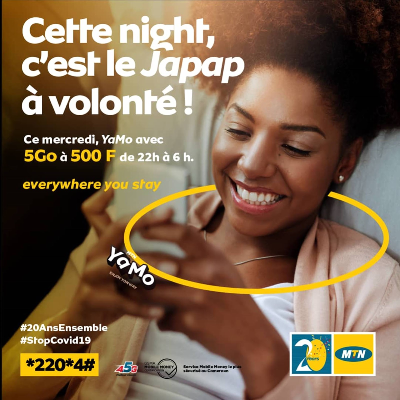 MTN Yamo Cheap Bundles: Get 5Gb for 500Frs Only