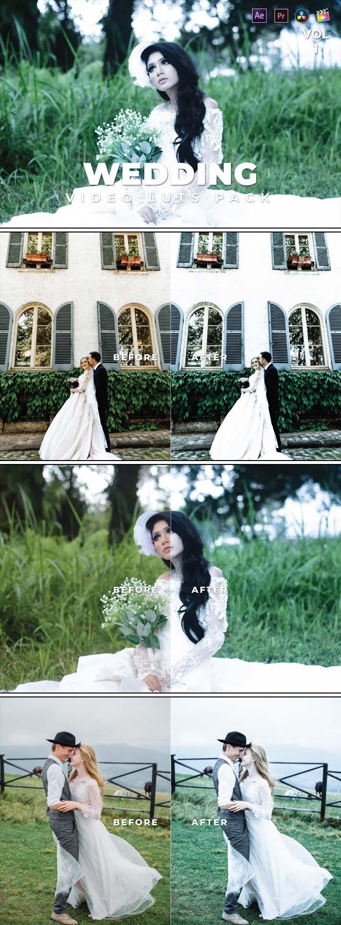Wedding Pack Video LUTs Vol.1