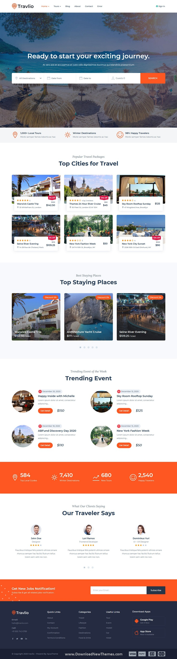 Travlio Travel Booking WordPress Theme