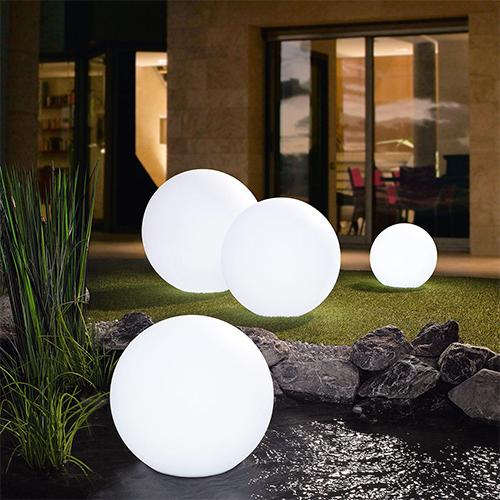 Boule solaire de jardin, piscine et bassin