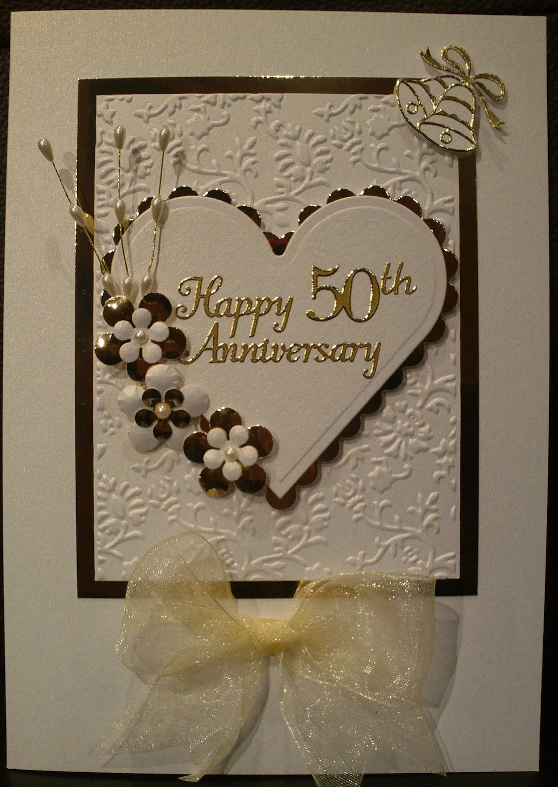 cards 'n' crafts golden anniversary card