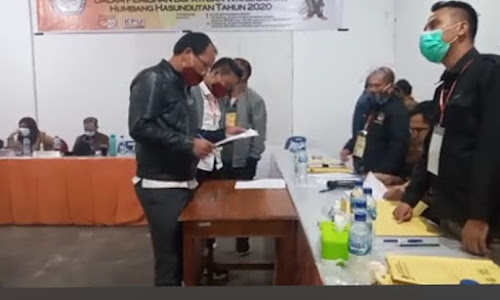 Tidak Memenuhi Syarat PKPU, Dokumen Dosmar-Oloan Dikembalikan KPUD Humbahas