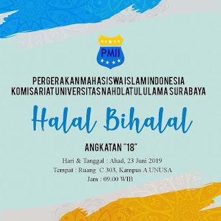 pamflet halal bihalal organisasi pmii