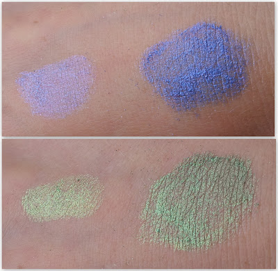 P2 twinkle metalic powder Swatches
