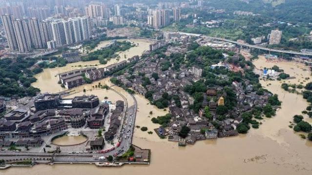 Banjir di Hubei China Tewaskan 21 Orang, Empat Lainnya Hilang