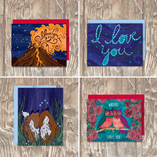 CARD PACK Valentine's Day Love Cards