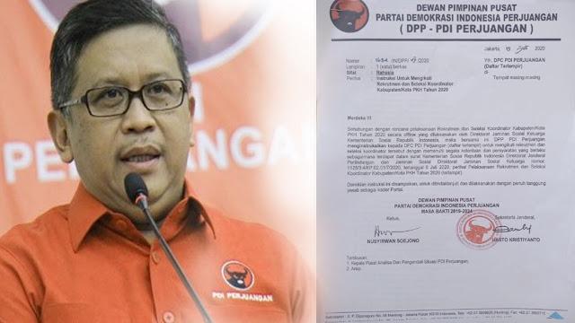 Bocor Surat Rahasia Instruksi Kader PDIP Ikut PKH, Hasto: Itu Bagian dari Tradisi Demokrasi Partai