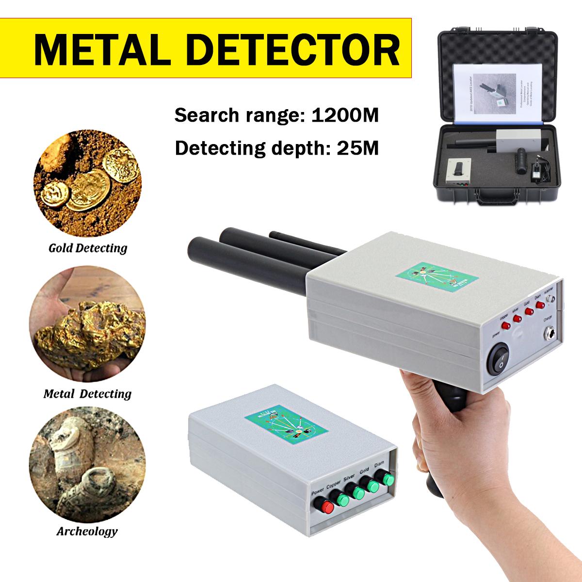 AKS Metal Detector Finder Gold Silver Copper Scanner Deep