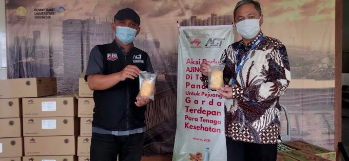 Ajinomoto dan  ACT Donasikan 3200 Roti Untuk Tenaga Medis Covid-19