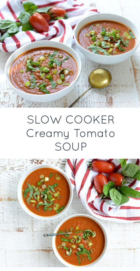 Slow Cooker Creamy Tomato Soup (Dairy-Free)