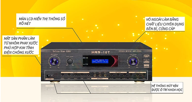 Amply karaoke HAS 10T Deluxe Home Kara