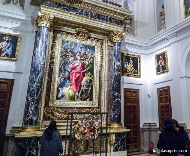 """""""O Espólio"""", tela de El Greco na Catedral de Toledo"""