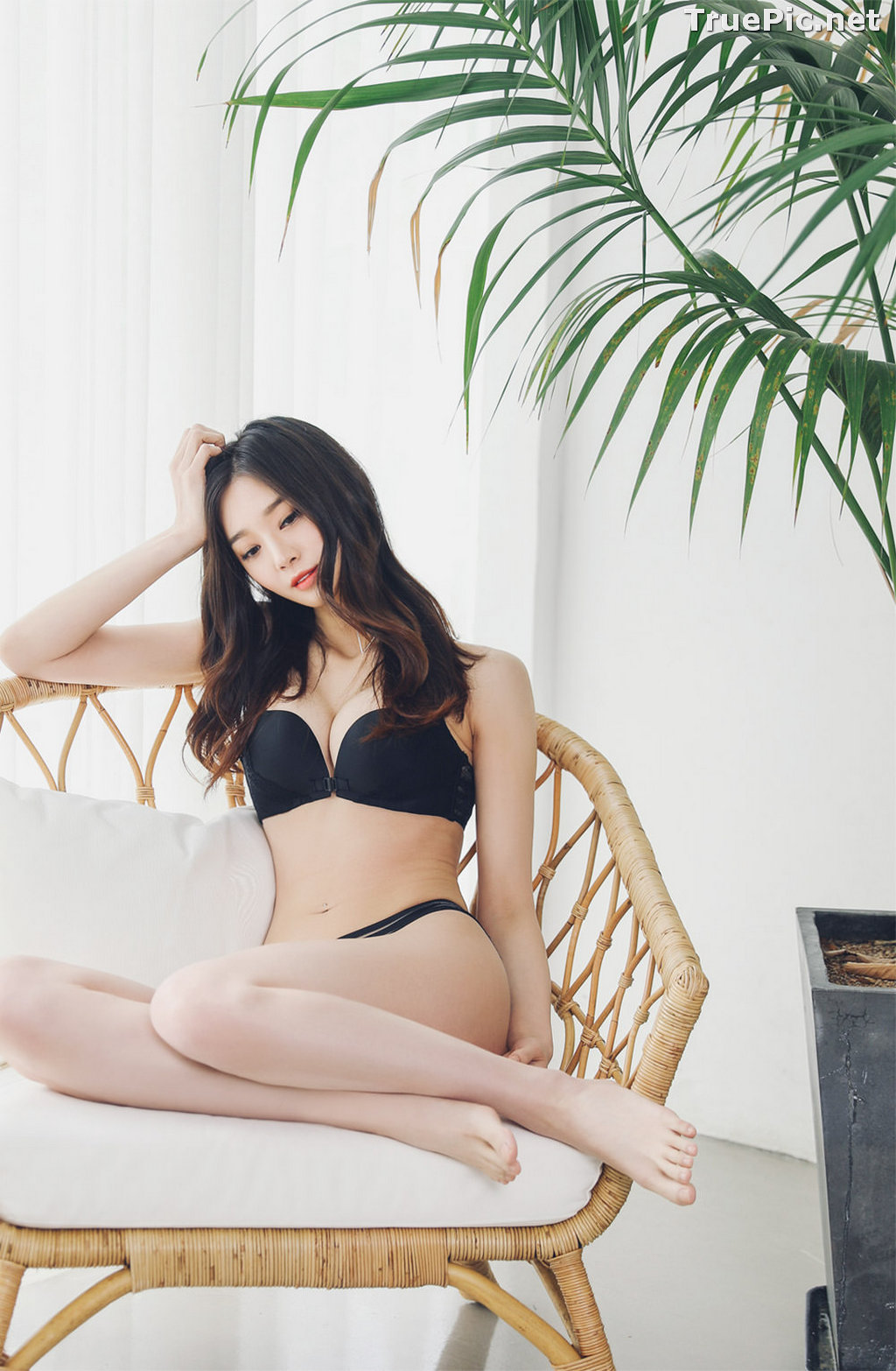 Image Korean Fashion Model – Carmen – Black Lingerie and Sleepwear - TruePic.net - Picture-9