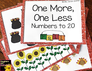 https://www.teacherspayteachers.com/Product/Fall-Math-Task-Cards-One-More-One-Less-SCOOT-2838608