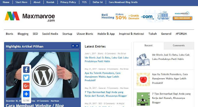 Blog Maxmanroe.com - Blog Bloging Bisnis Online Internet Marketing Terbaik Di Indonesia