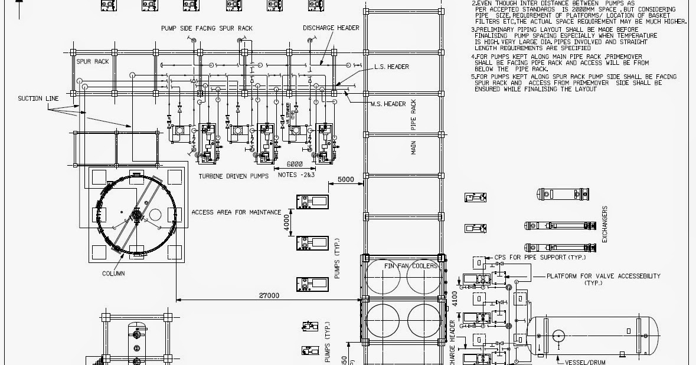 piping layout plan
